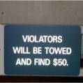 Fine for parking?